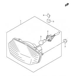 FEU ARRIERE (Modèle K5/K6/K7)