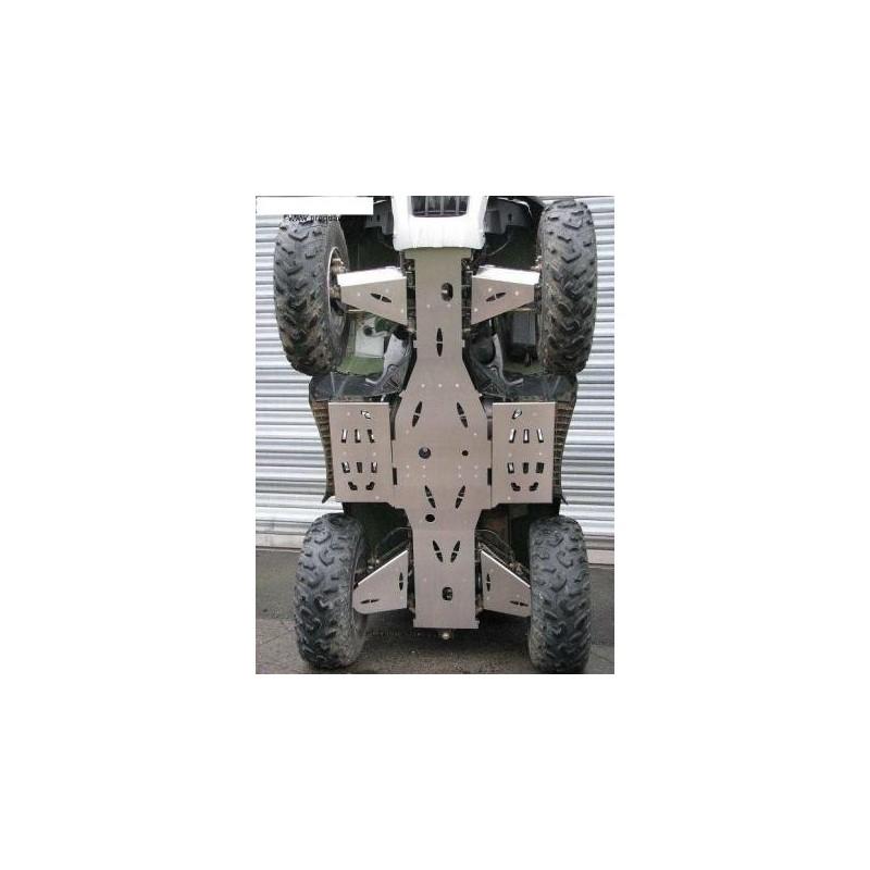 kit protection total, sabot central , marche pied , triangles avants et arrieres , alu 4mm, sym 600