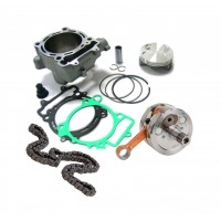 - Kit:Cylindre,Piston,Arbres a cames,Joint,Chaine distribution